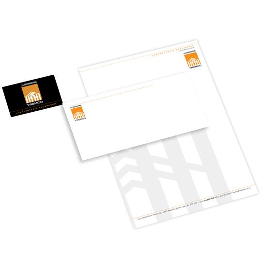 Papeterie, cartes d\'affaires, entête